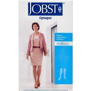 Image of   Jobst kvinde opaque kompresions knæstrømpe str. L (natur) 1 stk