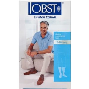 Image of   Jobst Men sort kompresionsstrømpe str. M (sort) 1 stk