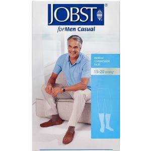 Image of   Jobst Men sort kompressionsstrømpe str. L (sort) 1 stk