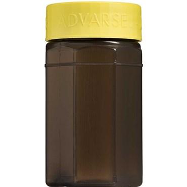Image of   Kanylebeholder ottekantet 0,5 liter med gult låg 1 stk