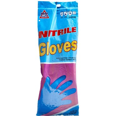 Keep safe handske nitril blå 1 stk thumbnail