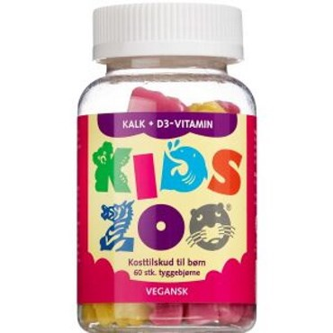Image of   Kids Zoo Kalk + D-Vitamin 60 stk