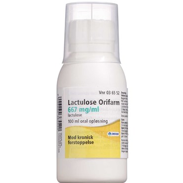 "Image of   Lactulose ""Orifarm"" 100 ml Oral opløsning"