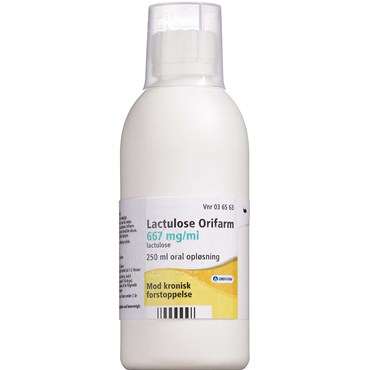 "Image of   Lactulose ""Orifarm"" 250 ml Oral opløsning"