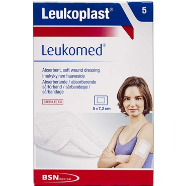 Image of   Leukoplast Leukomed 5 x 7,2 cm sårbandage 5 stk