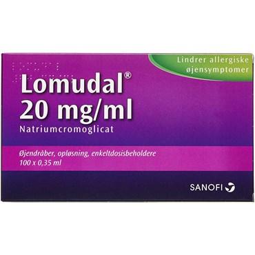 Lomudal 20 mg/ml 35 ml Øjendråber, opløsning, enkeltdosisbeholder thumbnail