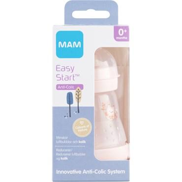 MAM Anti-Colic Sutteflaske Pink 160 ml 1 stk thumbnail