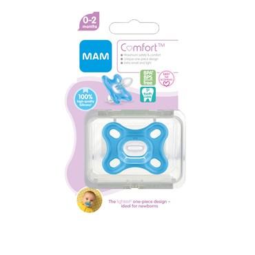 Image of   Mam comfort newborn blue 0-2 mdr. BLÅ farve 1 stk