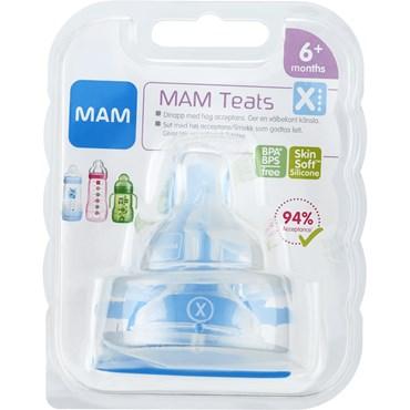 Image of   MAM Flaskesut, X-hul 2 stk