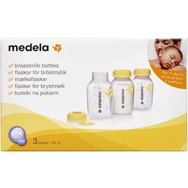 Medela Brystmælksflaske 150 ml 3 stk á 150 ml thumbnail