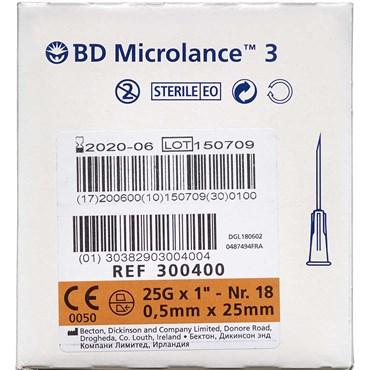 Microlance 3 Kanyler 25G1 Organge 100 stk thumbnail