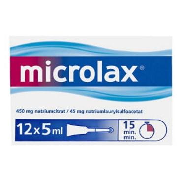 Image of   Microlax 60 ml Rektalvæske, opløsning, enkeltdosisbeholder