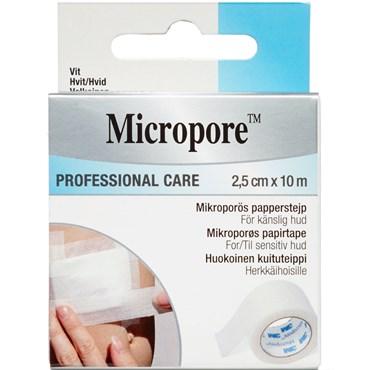 Image of   Micropore papirtape hvid 2,5 cm x 10 m 2,5 cmxm