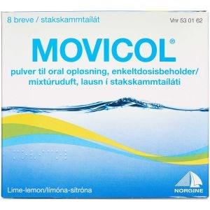 Image of   Movicol 8 stk Pulver til oral opløsning, enkeltdosisbeholder