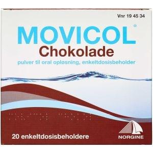 Image of   Movicol Chokolade 20 stk Pulver til oral opløsning, enkeltdosisbeholder