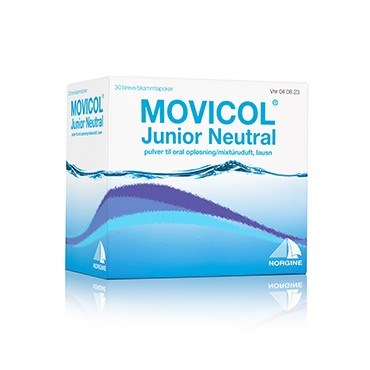 Image of   Movicol Junior Neutral 30 stk Pulver til oral opløsning