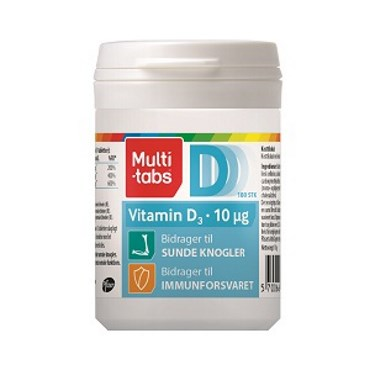 Image of   Multi-tabs D3 Vitamin 10 µg 180 stk