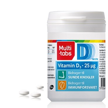 Image of   Multi-tabs D3 Vitamin 25 µg 180 stk