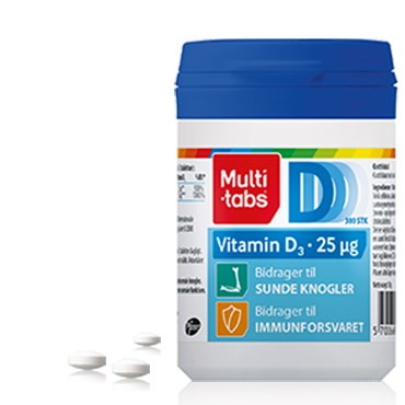 Image of   Multi-tabs D3-vitamin 25 µg 300 stk