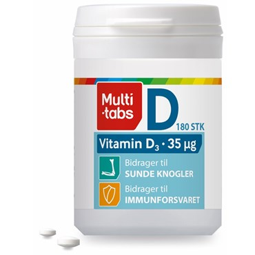 Image of   Multi-tabs D3-vitamin 35 µg 180 stk