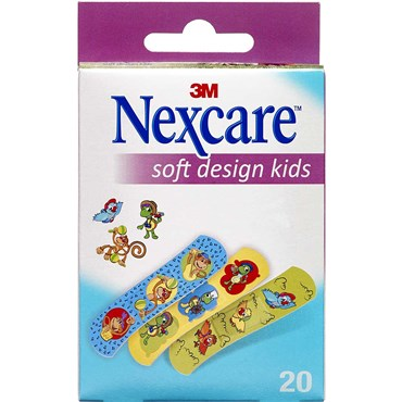 Image of   Nexcare Soft design Kids 20 stk