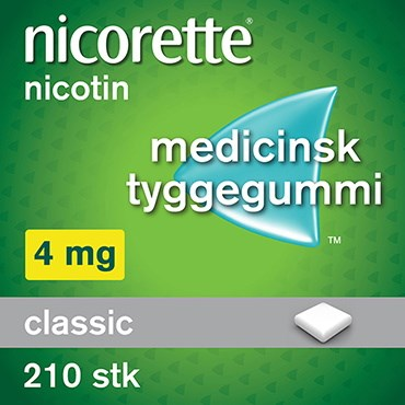 Nicorette Classic 210 stk Medicinsk tyggegummi thumbnail