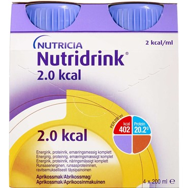 Image of   Nutridrink 2.0 kcal abrikos 4 x 200 ml