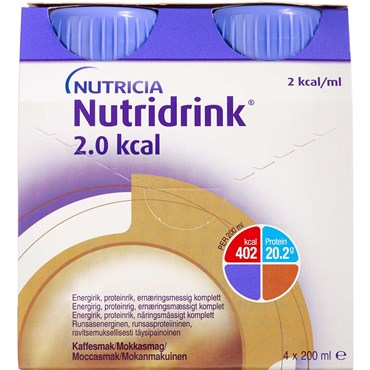 Image of   Nutridrink 2.0 kcal mokka 4 x 200 ml