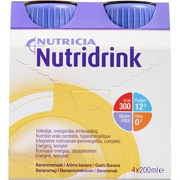 Image of   Nutridrink Banan 4 x 200 ml