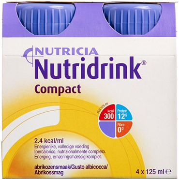 Image of   Nutridrink Compact Abrikos 4 x 125 ml