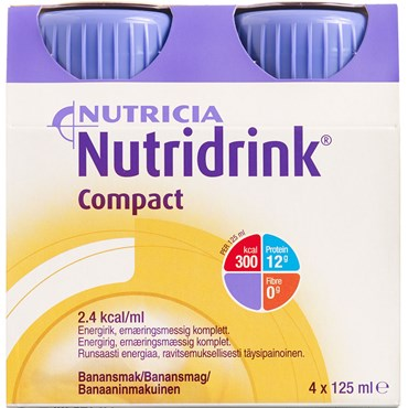Image of   Nutridrink Compact Banan 4 x 125 ml