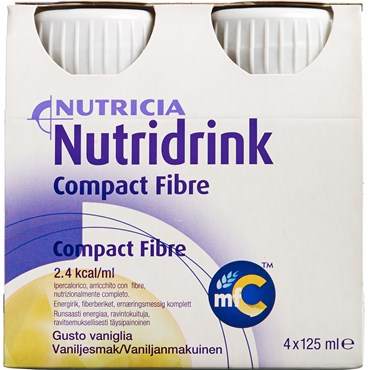 Image of   Nutridrink Compact Fibre Vanille 4 x 125 ml