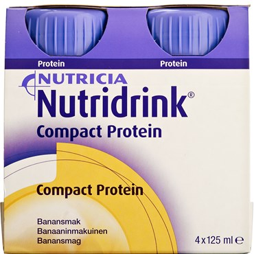 Image of   Nutridrink Compact Protein Banan 4 x 125 ml