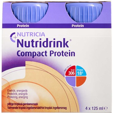 Image of   Nutridrink Compact Protein hot tropisk ingefær 4 x 125 ml