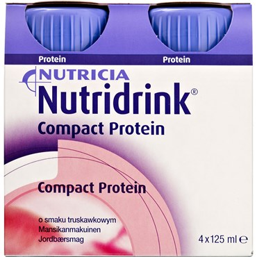 Image of   Nutridrink Compact Protein Jordbær 4 x 125 ml