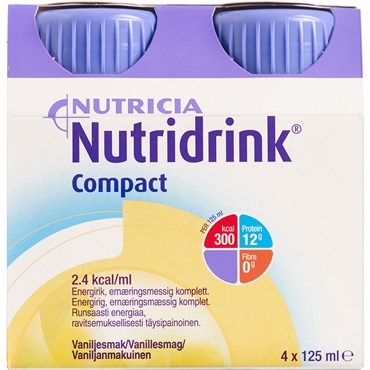 Image of   Nutridrink Compact Vanille 4 x 125 ml