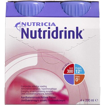 Image of   Nutridrink Jordbær 4 x 200 ml