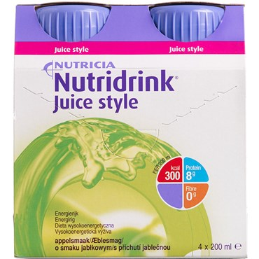 Image of   Nutridrink Juice Style Æble 4 x 200 ml