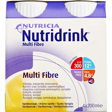 Image of   Nutridrink Multi Fibre Mix 6 x 4 x 200 ml