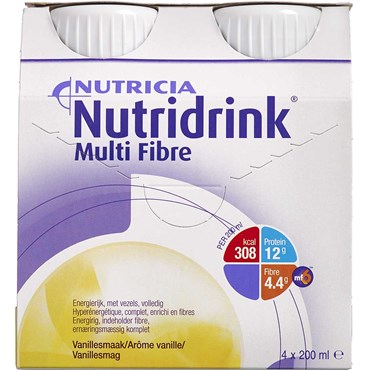 Image of   Nutridrink Multi Fibre vanille 4 x 200 ml