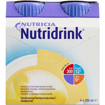 Image of   Nutridrink Vanille 4 x 200 ml