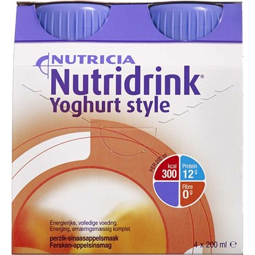 Image of   Nutridrink Yoghurt Style Fersken/orange 4 x 200 ml