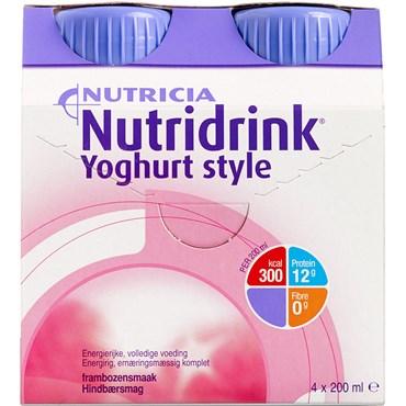 Image of   Nutridrink Yoghurt Style Hindbær 4 x 200 ml