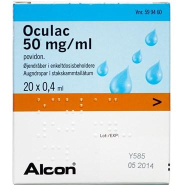 Image of Oculac 8 ml Øjendråber, opløsning, enkeltdosisbeholder