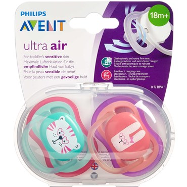 Philips avent sut ultra air 18+M. Assorterede faver 2 stk thumbnail