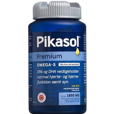 Image of   Pikasol Premium Omega 3 1000 mg Kapsler 120 stk