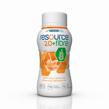 Image of   Resource 2.0+fibre Abrikos 4 x 200 ml