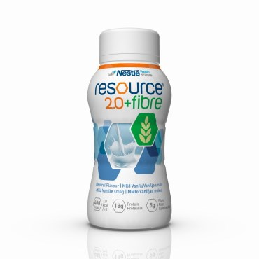Image of   Resource 2.0+fibre Mild vanille 4 x 200 ml