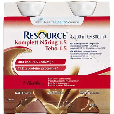 Image of   Resource Komplett 1.5 Kaffe 4 x 200 ml