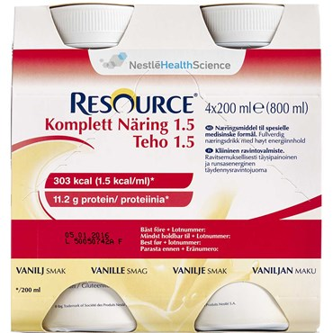 Image of   Resource Komplett 1.5 Vanille 4 x 200 ml